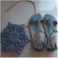 Sandalia + bolsinha da Frozen