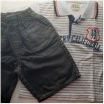 Conjunto polo e bermuda jeans - 1 ano - WHITE BEACH
