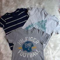 Trio camisetas 2 anos - 2 anos - Variadas