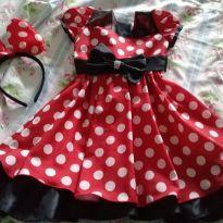 Vestido fantasia Minnie - 2 anos - Nelu - BR