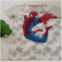 Camiseta cinza do homem aranha tamanho 10 - 10 anos - Não informada