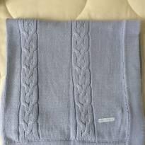 Manta tricô Trançada Laleblu azul - Sem faixa etaria - Laleblu