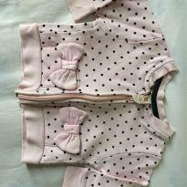 Blusa moletom Rosa bb - 3 a 6 meses - Póim