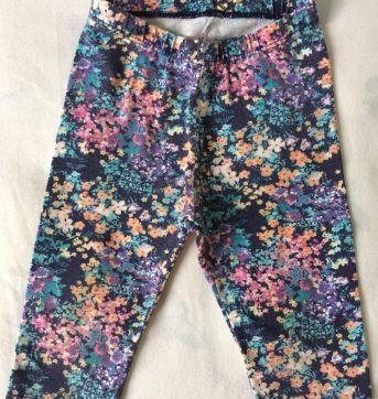 Calça legging floral - 9 a 12 meses - Póim