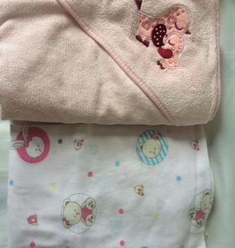 Lote 1 lençol com elástico + toalha de banho forrada - Sem faixa etaria - Papi