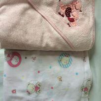 Lote 1 lençol com elástico + toalha de banho forrada -  - Papi