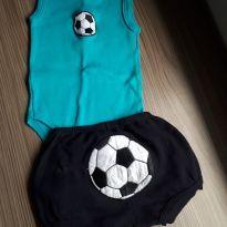 Conjunto fresquinho futebol - 0 a 3 meses - Pingo Lelê