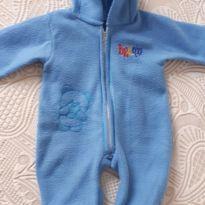 Macacão plush ursinho azul - 0 a 3 meses - Sem marca