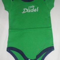 Body manga curta verde da Luvable Friends - 3 a 6 meses - Luvable Friends