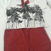 Lindo conjunto camisa polo e shorts - 12 a 18 meses - Mineral Kids