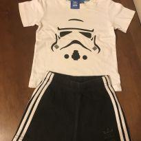 Conjunto camiseta e shorts - Adidas - 12 a 18 meses - Adidas