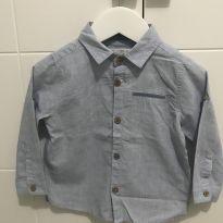 Camisa manga cumprida com ajuste para manga curta - Zara - 12 a 18 meses - Zara Baby