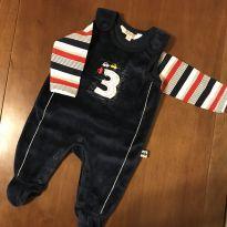 Charmoso conjunto macacão e camiseta manga longa Charmoso conjunto macacão e cam - 0 a 3 meses - KANZ