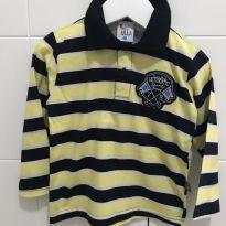 Linda camiseta polo manga longa - T2 - 2 anos - Pulla Bulla