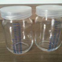 Kit com 5 frascos de vidro para armazenar leite materno - Sem faixa etaria - Diversas