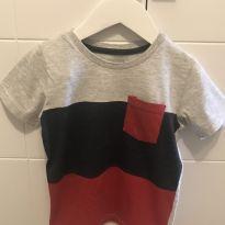 Camiseta manga curta - T3 - 3 anos - Poim, Cherokee e Up Baby
