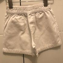Shorts branco sarja T2 - 2 anos - Sem marca