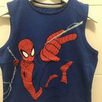 Camiseta regata homem aranha - T4 - 4 anos - C&A
