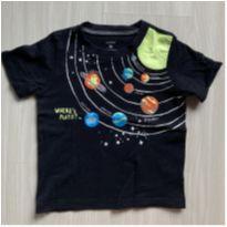 Camiseta Planetas - Brilha no Escuro - 3 anos - Carter`s