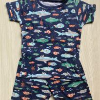 Pijama Carter`s 4T - Peixinhos - 4 anos - Carter`s
