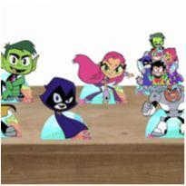 Displays de mesa de aniversário Jovens Titans -  - Artesanal