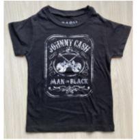 Camiseta Johnny Cash - 3 anos - Não informada