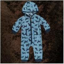 Macacão Carter`s Fleece de Cachorrinhos - 9 a 12 meses - Carter`s
