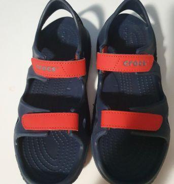 Sandália Crocs Infantil Swiftwater Azul Marinho - 34 - Crocs