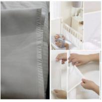 Protetor Berço Tela Respirável Bebê Branca Lisa Grade -  - Não informada