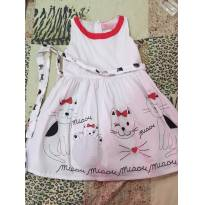 Vestido de gatinho Pituchinhus - 4 anos - Pituchinhus