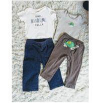 Calças e Camisetas - 9 a 12 meses - Carter`s e Tommy Hilfiger