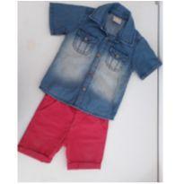 Conjunto Infantil Camisa Jeans e Bermuda Milon - 1 ano - Milon