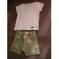 Conjunto De Verão Feminino, Tamanho 3, Usado - 3 anos - Green