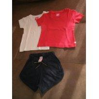Conjunto De Verão Feminino Tamanho 2 A 4 Anos - Usado - 2 anos - Hering Kids e Póim