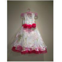 Vestido de Festa Infantil, Rodado, 6 a 7 anos - Usado - 7 anos - Importado