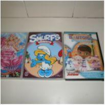 Lote de 3 Dvd´s (Barbie/Smurfs/Dra Brinquedos) -  - Não informada