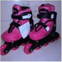 Patins Roller In-line Ajustável Rosa - Bel Sports -  - Bel Sports