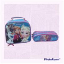 Kit Frozen Lancheira + Estojo De Lápis  Semi Novo -  - Disney