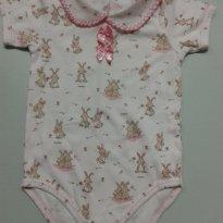 Body Coelhinhos - 3 a 6 meses - Dedeka