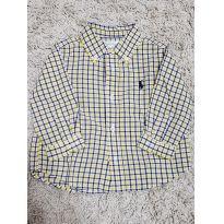 Camisa Xadrez Ralph Lauren Amarela - 6 meses - Ralph Lauren