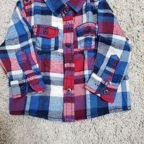 Camisa Xadrez em Flanela - 6 a 9 meses - Milon
