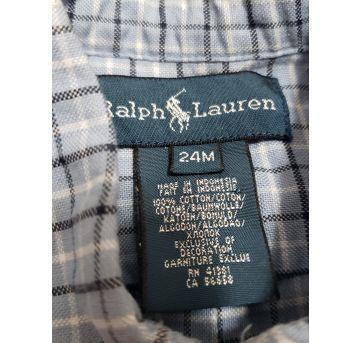 Camisa Xadrez Azul Ralph Lauren - 2 anos - Ralph Lauren