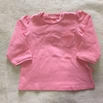Blusa manga longa rosa - 6 meses - Chicco