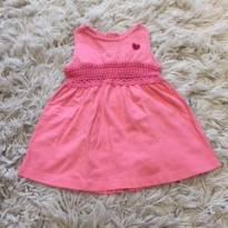 Vestido Rosa Coração - 3 a 6 meses - Teddy Boom
