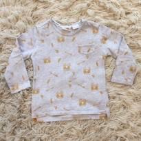 Camiseta manga longa com estampa de pandas - 9 a 12 meses - Zara Baby