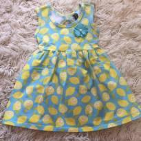 Vestido Limão - 1 ano - Duduka