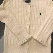 Cardigan Polo Ralph Lauren tricô Off White - 6 anos - Ralph Lauren