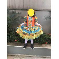 VESTIDO CAIPIRA/ FESTA JUNINA (MARAVILHOSO) - 10 anos - Desconhecida