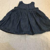 Vestidinho Jeans - 6 a 9 meses - Baby Gap