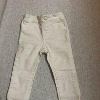 Calça de sarja cru com brilho - 6 a 9 meses - Gymboree